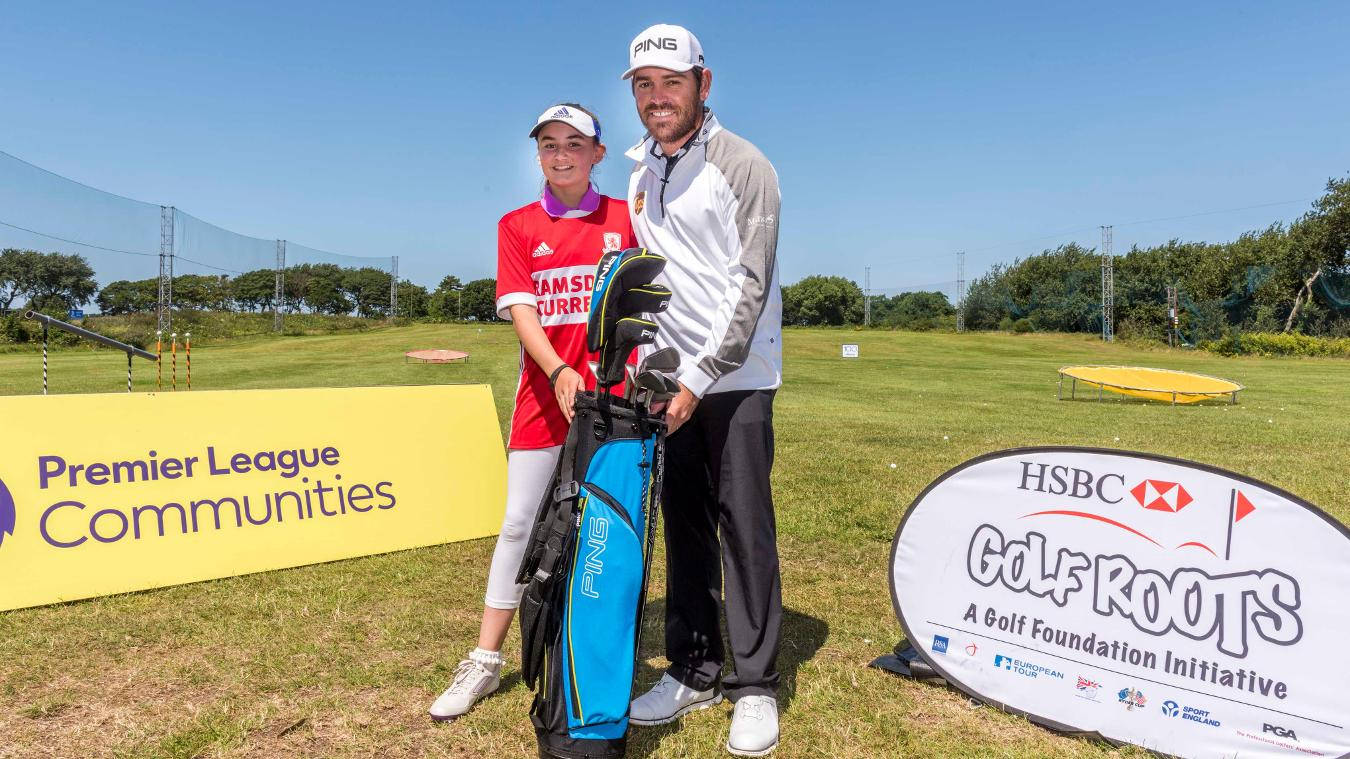 National StreetGolf Final, Louis Oosthuizen and Lily from Middlesbrough