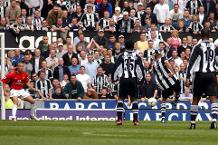 Goal of the day: A smashing volley from Jenas