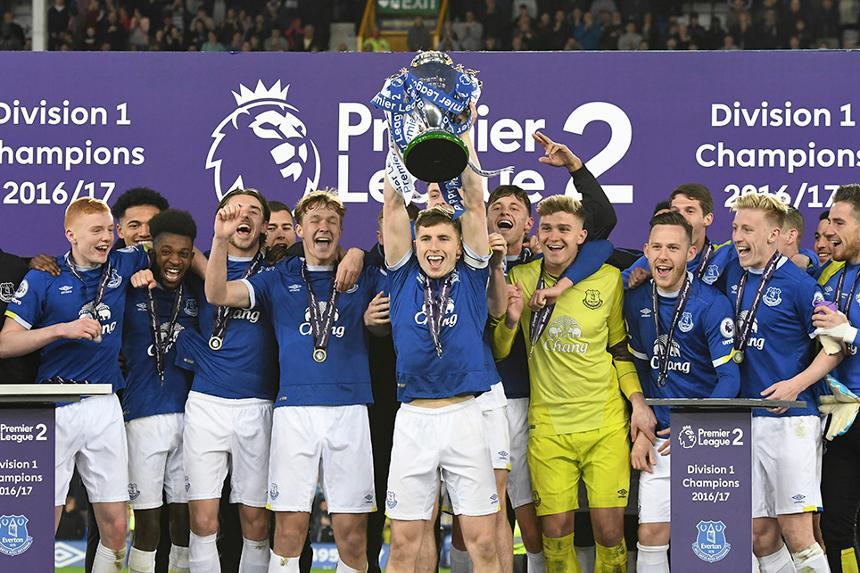 Everton lift 2016/17 PL2 Division 1 trophy