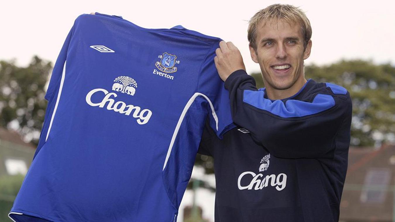 Phil Neville joins Everton