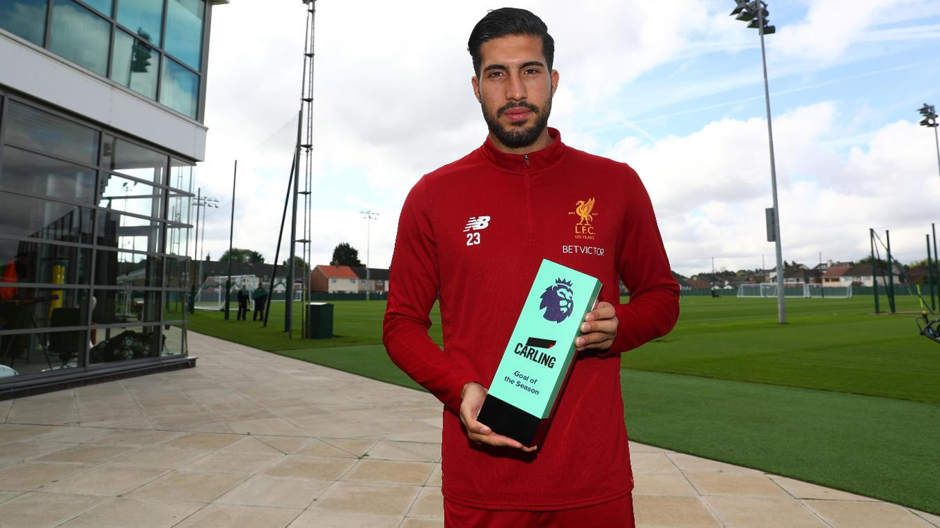 Emre Can wins Carling Goal of the Season