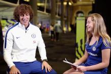 Two Chelsea fans meet David Luiz