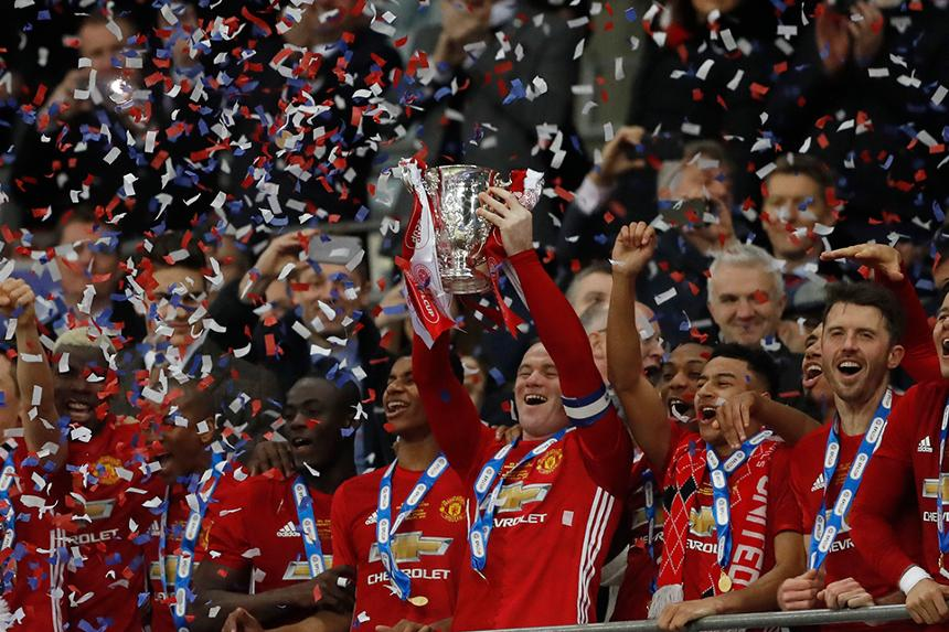 2016/17 EFL Cup winners Manchester United