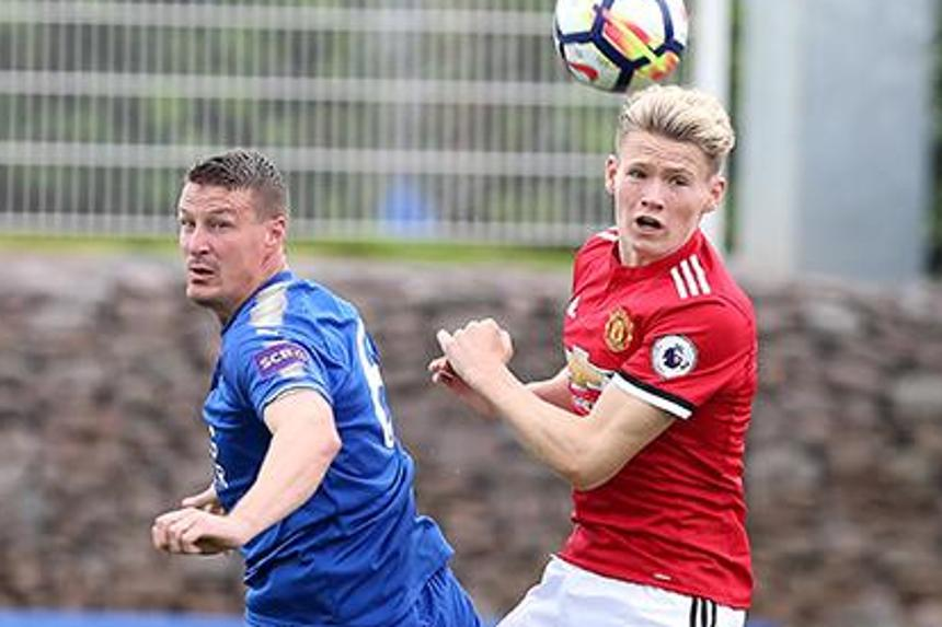 Robert Huth and Scott McTominay in PL2 action