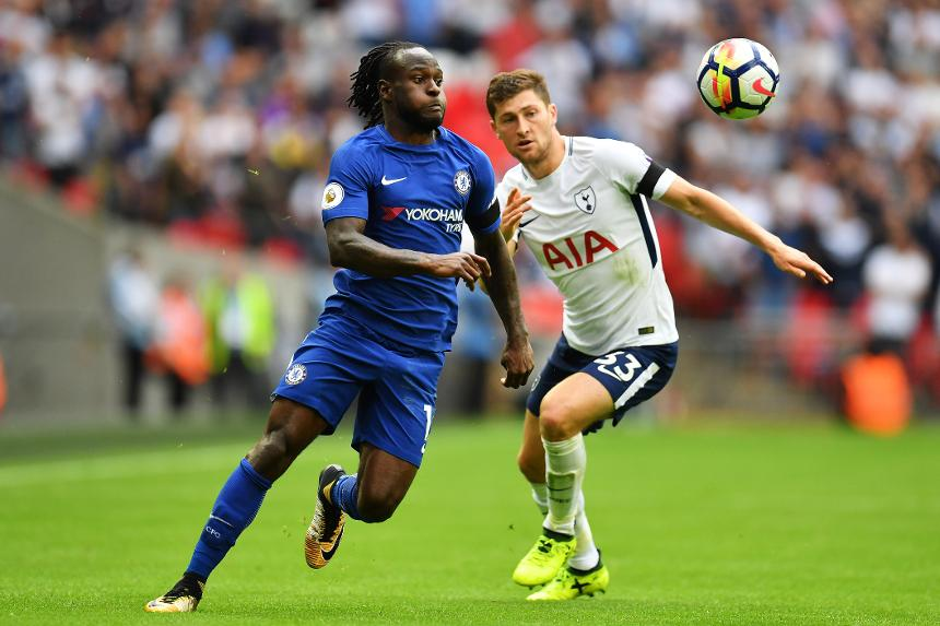 Tottenham Hotspur v Chelsea - Victor Moses and Ben Davies