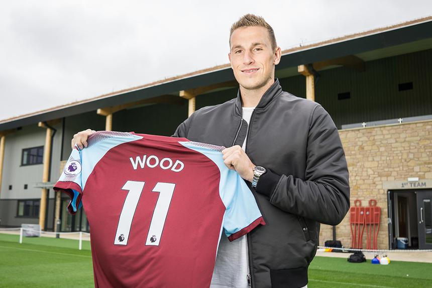 Chris Wood signs for Burnley