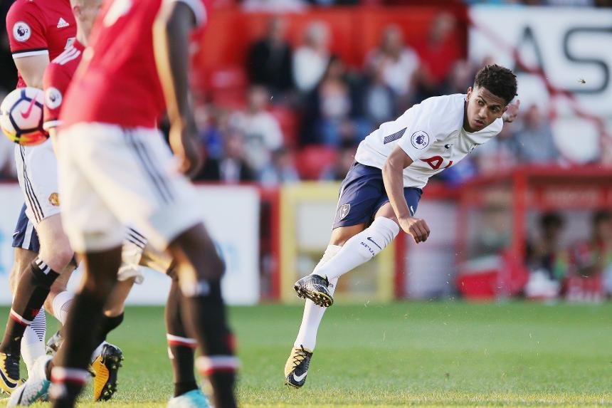 Spurs v Man Utd PL2, Marcus Edwards goal
