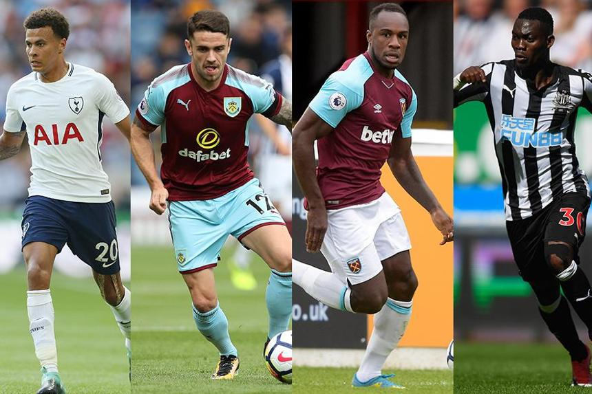 Image showing Dele Alli, Robbie Brady, Michail Antonio and Christian Atsu