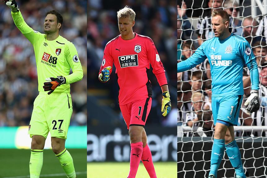 Asmir Begovic, Jonas Lossl and Rob Elliot