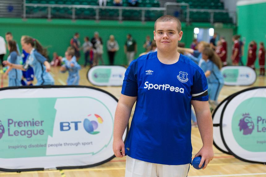 Hugh from Everton in the Community