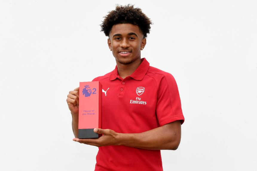 Reiss Nelson, Arsenal, PL2 Player of the Month for August