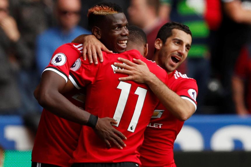 Paul Pogba and Henrikh Mkhitaryan, Man Utd