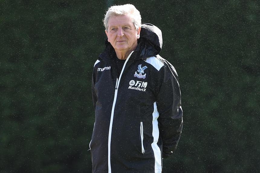 Roy Hodgson takes training at Crystal Palace