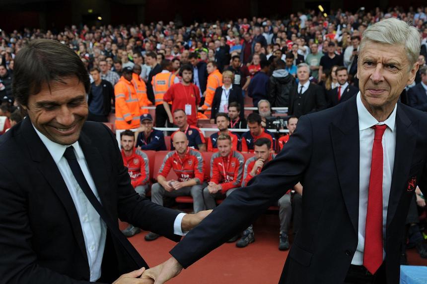 Arsene Wenger and Antonio Conte