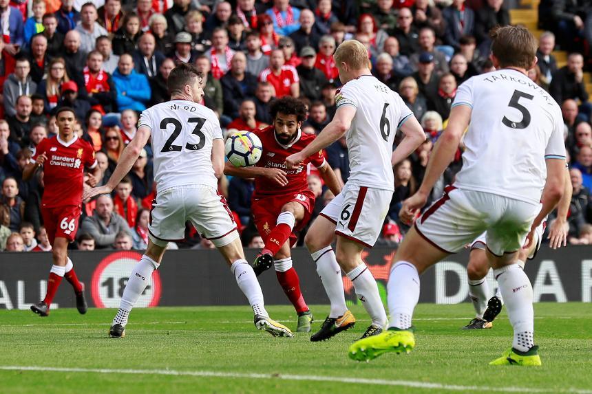 Mohamed Salah scores for Liverpool