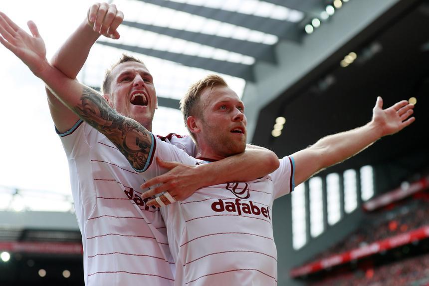 Scott Arfield and Chris Wood, Burnley