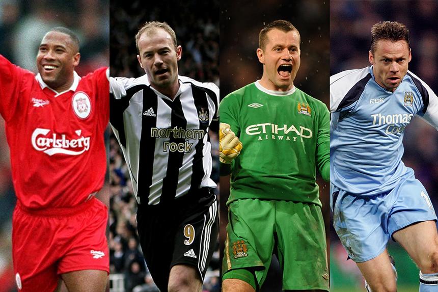 John Barnes, Alan Shearer, Shay Given, Paul Dickov