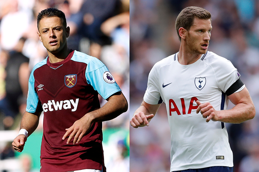 Chicharito v Jan Vertonghen composite image