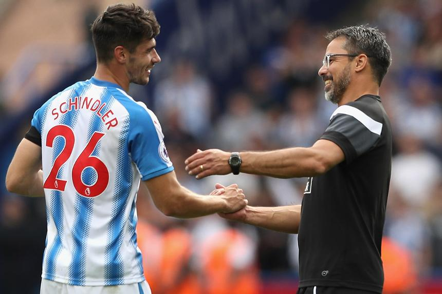 David Wagner and Christopher Schindler, Huddersfield Town