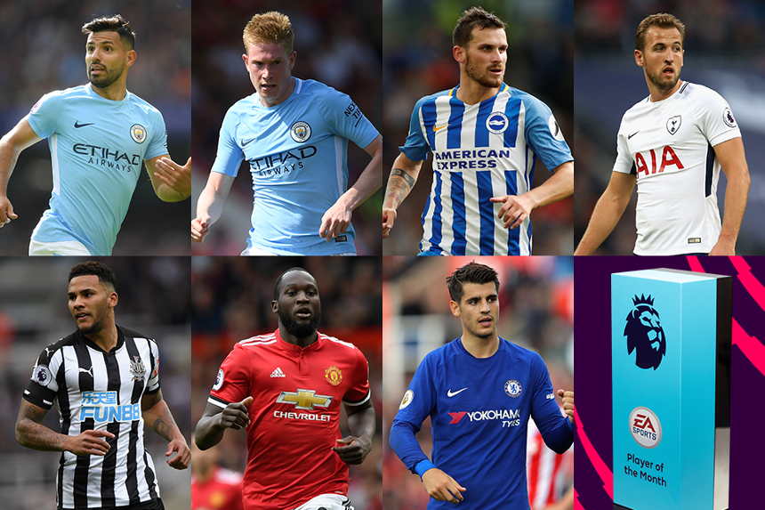 EA SPORTS Player of the Month shortlist for September 2017