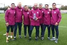 Guardiola gets three Barclays awards in a row