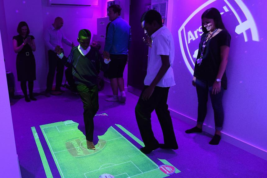Youngsters enjoy Arsenal's new sensory room