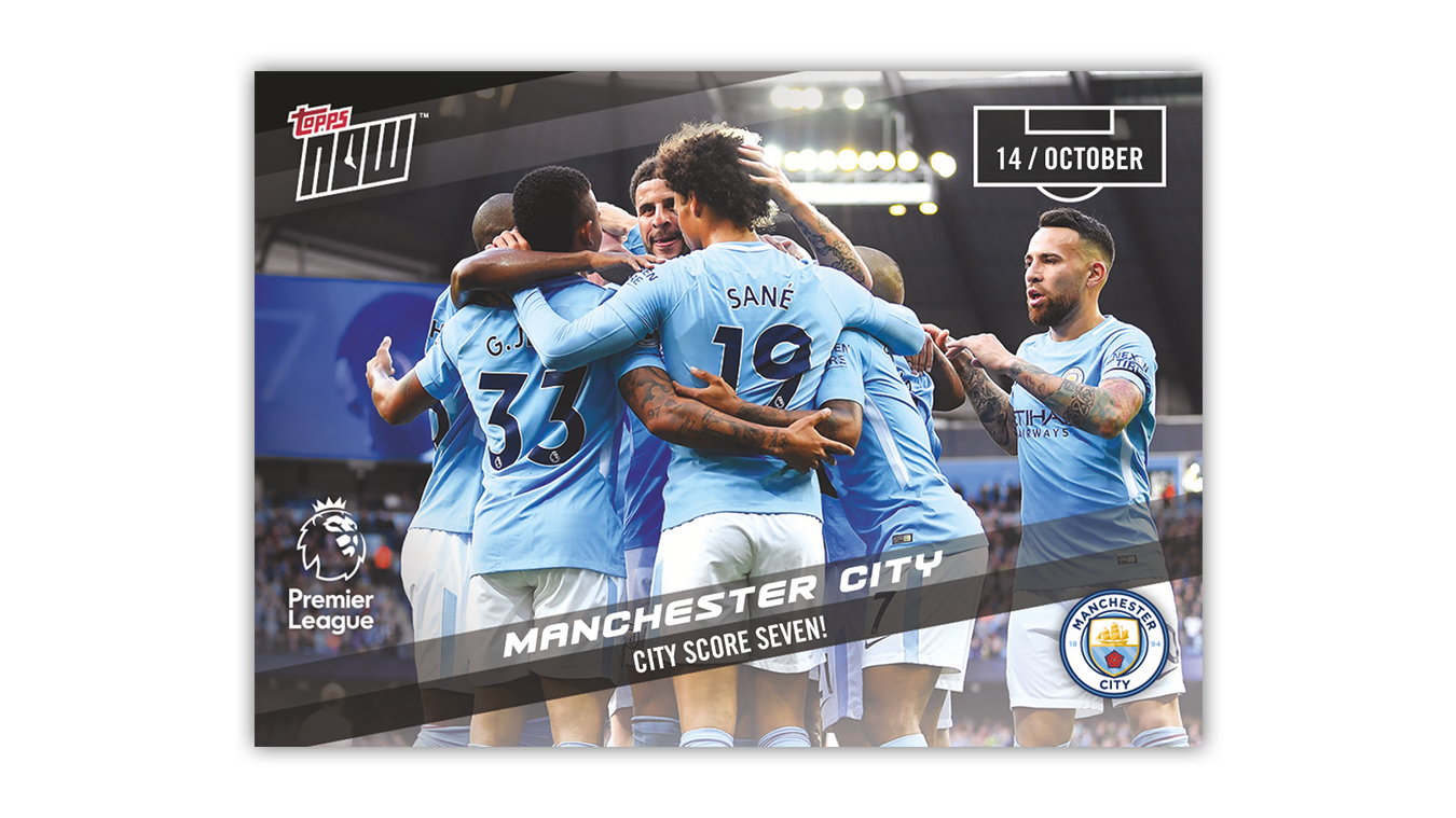 Topps Now card - Man City