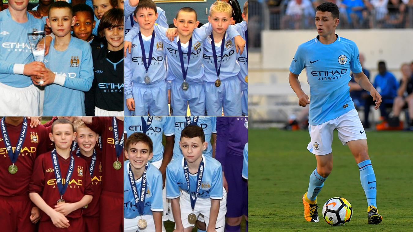 Phil Foden through the years