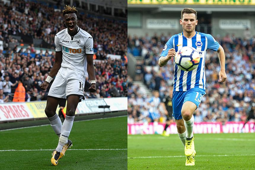 Tammy Abraham, Swansea City, and Pascal Gross, Brighton
