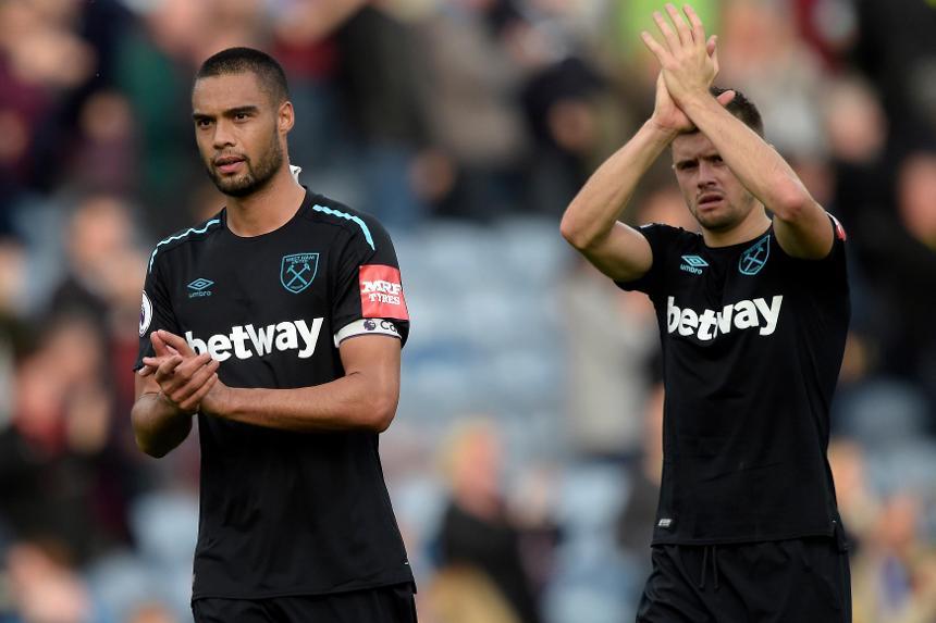 West Ham defenders Winston Reid and Aaron Cresswell