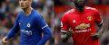 Alvaro Morata, Chelsea, and Man Utd's Romelu Lukaku