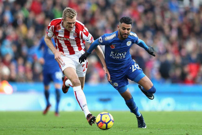 Stoke City v Leicester City - Riyad Mahrez