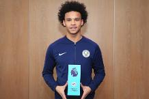 Sane picks up EA SPORTS Player of the Month award