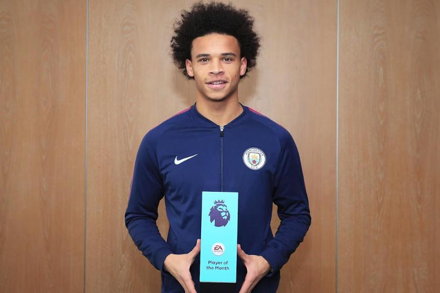 Sane wins EA SPORTS October Player of the Month