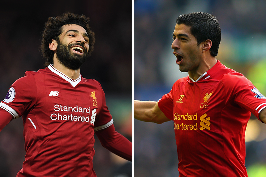 Mohamed Salah and Luis Suarez, Liverpool