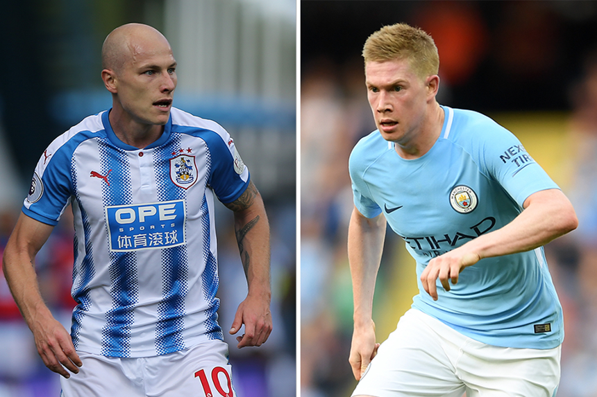 Aaron Mooy and Kevin De Bruyne