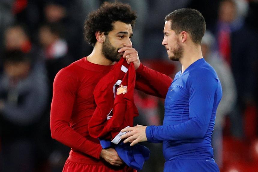 Liverpool v Chelsea - Salah and Hazard