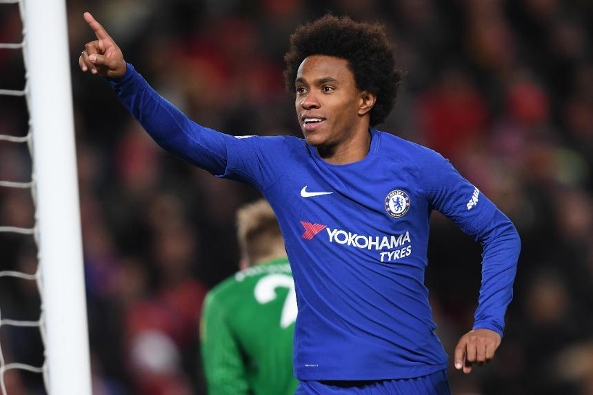Willian earns late Anfield point for Chelsea