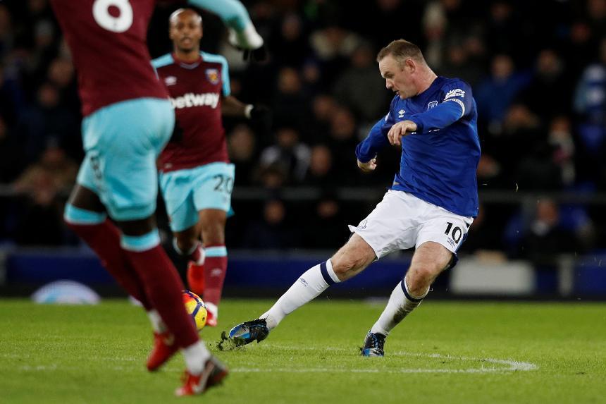 Everton v West Ham United - Wayne Rooney