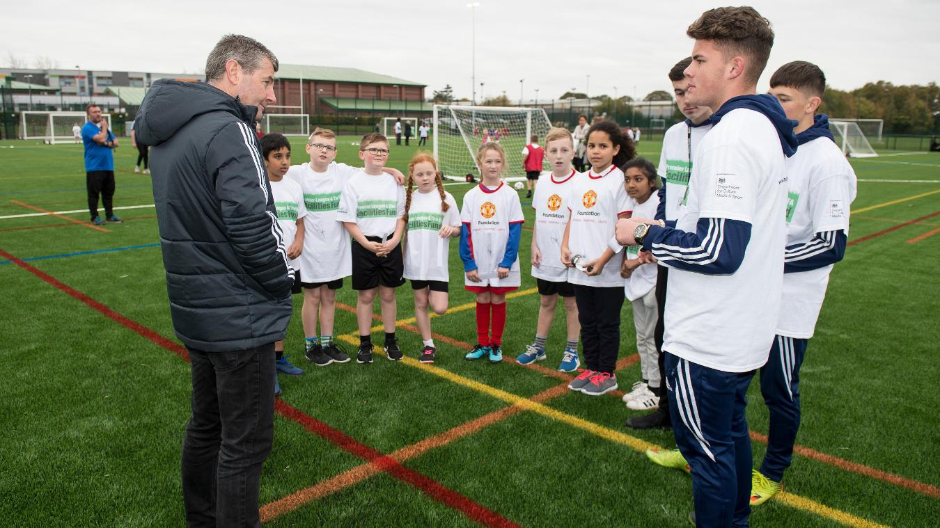 Manchester Health Academy, PL & The FA Facilities Fund, Denis Irwin
