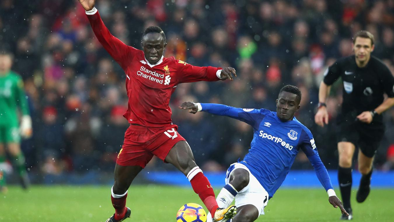 Liverpool in action against Everton