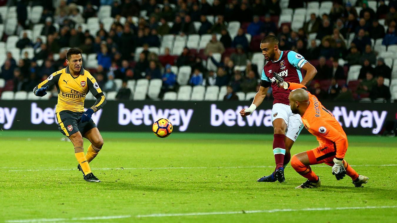 West Ham United v Arsenal, 13 December