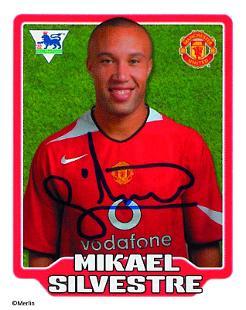 Mikaël Silvestre Topps Football Stickers, SV Werder Bremen ...