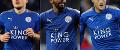 Leicester City's Harry Maguire, Riyad  Mahrez and Jamie Vardy