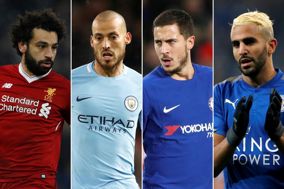 Mo Salah, David Silva, Eden Hazard and Riyad Mahrez