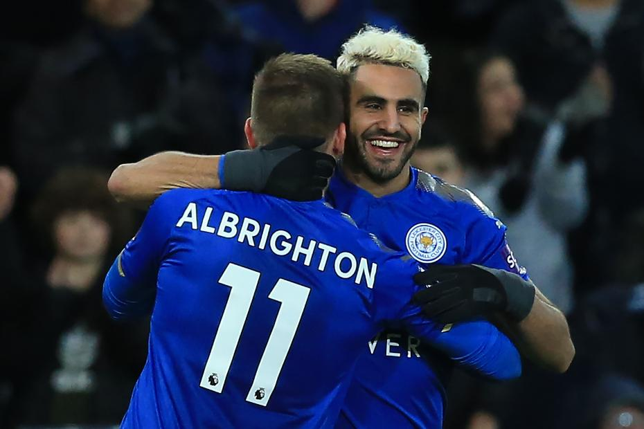 Riyad Mahrez and Marc Albrighton, Leicester City
