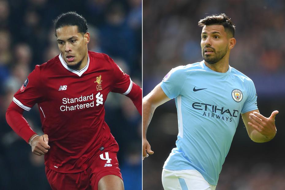 Virgil van Dijk, Liverpool, Sergio Aguero, Man City