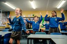 Children getting active thanks to Super Movers