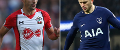 Dusan Tadic, of Southampton, and Eric Dier, of Spurs