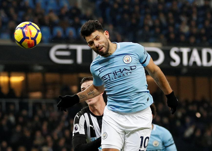 Sergio Aguero - Manchester City vs Newcastle United